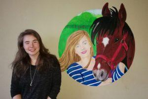 Muurschildering eigen portret