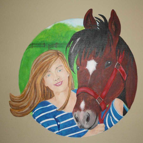 Portret Eva met paard